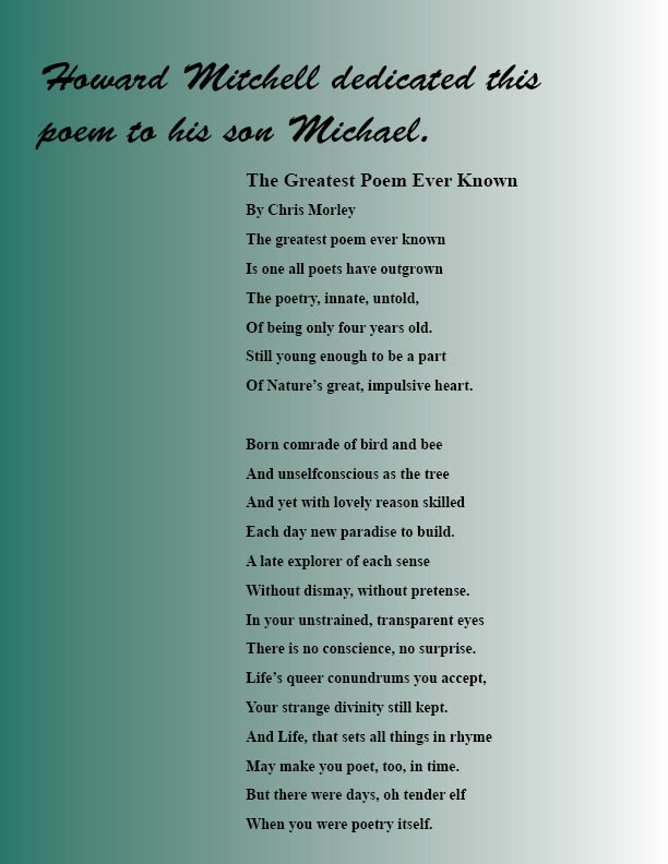 Michael Allen Mitchell Poetry Page